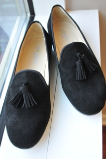 mens black shoes with tassels